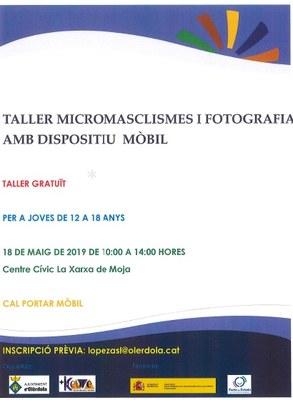 Encara estan obertes les inscripcions pel taller gratuït per a joves sobre micromasclismes i fotografia mòbil