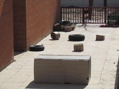 Imatge d'una part del pati de l'escola El Pàmpol.(foto: ERC)