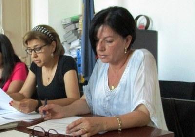 Fina Mascaró i M.Antònia Pajuelo, regidores d'ERC