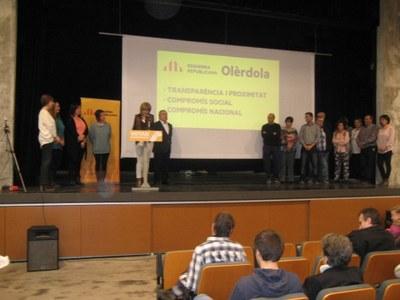 ERC exhibeix força i conviccions durant la presentació de Fina Mascaró com a candidata a l'alcaldia