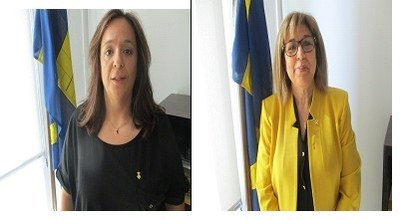 Mari Carme Villanueva(JxO) i Fina Mascaró (ERC)