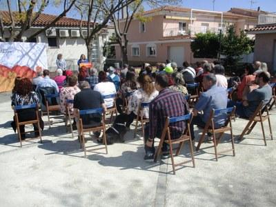 La llista d'ERC s'ha presentat a la plaça Bosquina de Sant Pere Molanta aquest diumenge