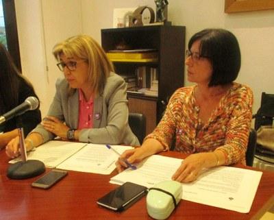 Fina Mascaró i Maria Antònia Pajuelo, regidores d'ERC