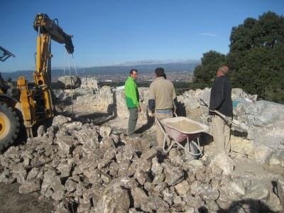 Es confia que les obres a la muralla romana incrementaran els atractius per visitar Olèrdola