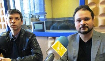 Joan López, regidor del PSC-Units, i Sergio Vargas, portaveu de l'agrupació local del PSC