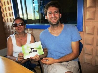 Anna Molero i Lucas Ramírez, de la Comissió de Festes de Moja