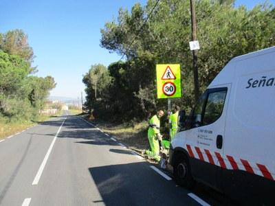 Es millora la senyalització en vies de titularitat municipal d'Olèrdola