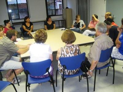 Imatge de la reunió mantinguda aquest dilluns a Moja