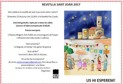 Es preparen revetlles populars de Sant Joan a Moja i a Sant Pere Molanta