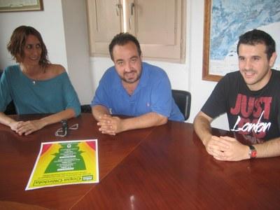 Arantxa Torres, 1a Tinent d'Alcalde, amb Óscar Callejas i Pere Joan Ullate, de La Plana Rodona