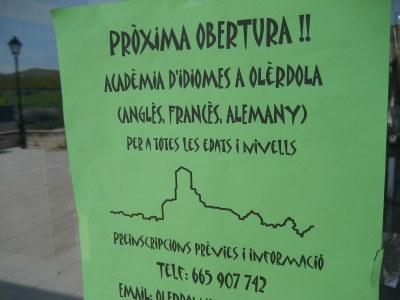 Es promou la creació d'una acadèmia d'idiomes a Olèrdola