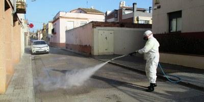 Es reforça a Olèrdola la neteja viària amb la desinfecció de les zones més freqüentades