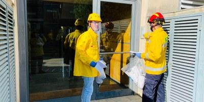 Es reparteixen les mascaretes higièniques que l'Ajuntament d'Olèrdola facilita de manera gratuïta a tota la població del municipi