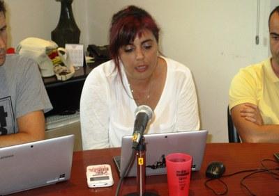 Eva Ruiz, en un moment de la seva intervenció de comiat