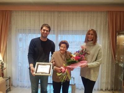 Maria Hill Mateu és l'única veïna empadronada al municipi que supera els 100 anys
