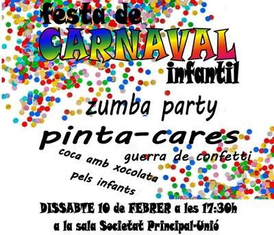 Festa de Carnaval infantil aquest dissabte a Sant Pere Molanta