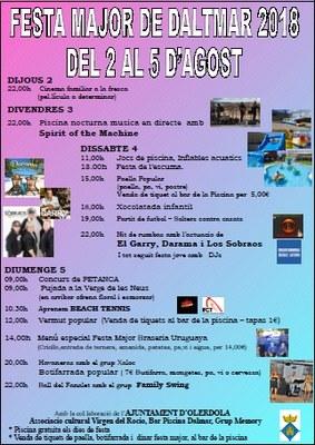 Festa Major de Daltmar aquest cap de setmana