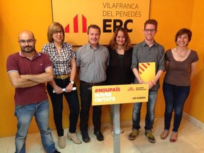 Fina Mascaró, segona per l'esquerra( font:ERC)