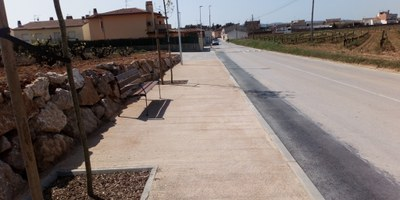 Finalitzen les obres del camí de vianants que uneix Sant Pere Molanta i el barri Ferran