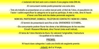 Fins aquest divendres es poden presentar els treballs que optin al 4t concurs literari Sant Jordi d'Olèrdola