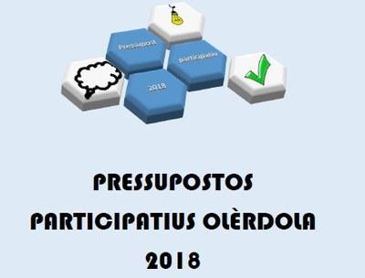 Fins dilluns a les 10:00h es poden votar les propostes dels pressupostos participatius d'Olèrdola