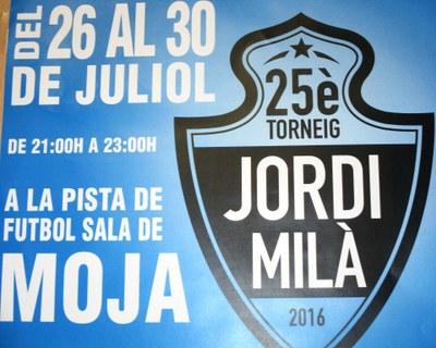 Fins dissabte es disputa a la pista poliesportiva de Moja el 25è torneig de futbol sala Jordi Milà