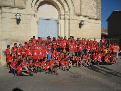 Participants de l'any passat, abans de començar la caminada