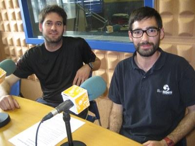 Lucas Ramírez i Oriol Diaz, dos dels organitzadors