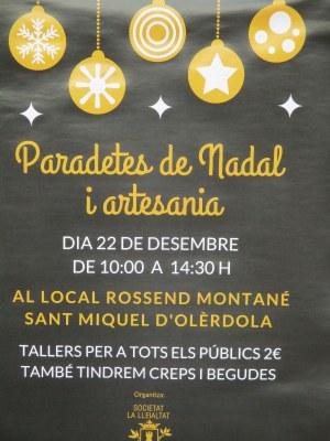 Fira amb paradetes de Nadal i artesania aquest diumenge a Sant Miquel d'Olèrdola