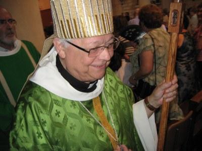 Francesc Pardo, en un moment de la cerimònia aquest diumenge a Moja