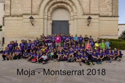 Gran ambient de germanor en la caminada de Moja a Montserrat