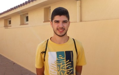 Carles Solé, membre del Grup de Joves de Sant Pere Molanta