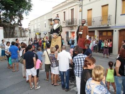 Gran seguiment de la processó de la Festa Major de Moja aquest dissabte al vespre