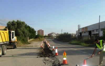 Han començat les obres del camí de vianants que unirà Moja i Vilafranca