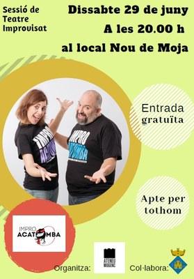 Humor a dojo amb els Improacatomba, dissabte, a Moja