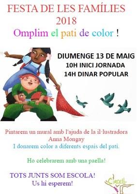 Infants i famílies pintaran el pati de l'escola Circell de Moja el proper diumenge 13 de maig