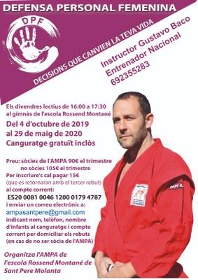 Inscripcions obertes al curs de defensa personal femenina que organitza l'AMPA de l'escola Rossend Montané