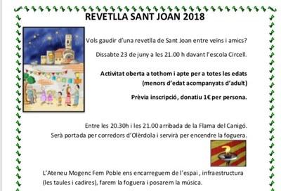 Inscripcions obertes fins el 20 de juny per al sopar popular de la Revetlla de Sant Joan a Moja