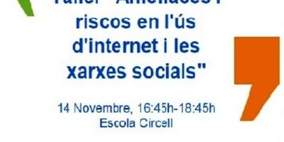 """Inscripcions obertes pel taller gratuït """"Amenaces i riscos en l'ús d'internet i les xarxes socials"""""""