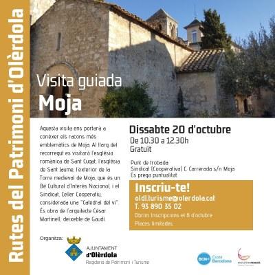 Inscripcions obertes per a fer la visita gratuïta pel patrimoni de Moja