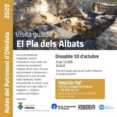 Inscripcions obertes per la visita guiada gratuïta al Pla dels Albats que organitza l'Ajuntament d'Olèrdola