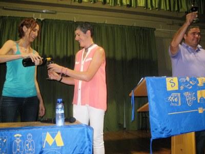 Irene Alemany i Laurent Corrio mariden vi i amistat en el pregó de la FM de Sant Pere Molanta