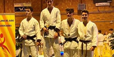 Irene Romero i Eloi Llosas, del Judo Olèrdola, s'han proclamat campions de Catalunya en categoria cadet