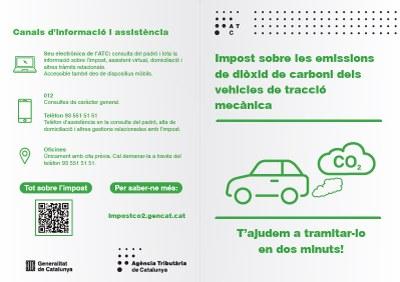 Ja es pot consultar al padró provisional de tributs de la Generalitat la quota a pagar en el nou impost sobre emissions de CO 2 dels  vehicles