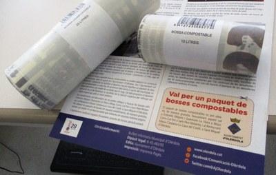 Ja hi ha bosses compostables en els establiments que col·laboren en la campanya promoguda per l'Ajuntament