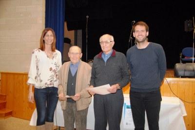 D'esquerra a dreta: la regidora Arantxa Torres, Antoni Candela, Joan Tort i l'alcalde, Lucas Ramírez