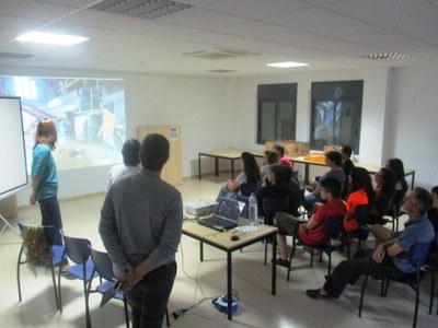 Moment de la presentació de l'Arqueocasal