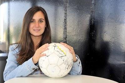 Luri Sorroche, entrenadora de l'AE Moja