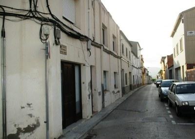 El carrer Manel Crespo, a Sant Pere Molanta