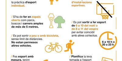 L'Ajuntament d'Olèrdola anima a aprofitar la desescalada del confinament per recuperar i mantenir una vida saludable